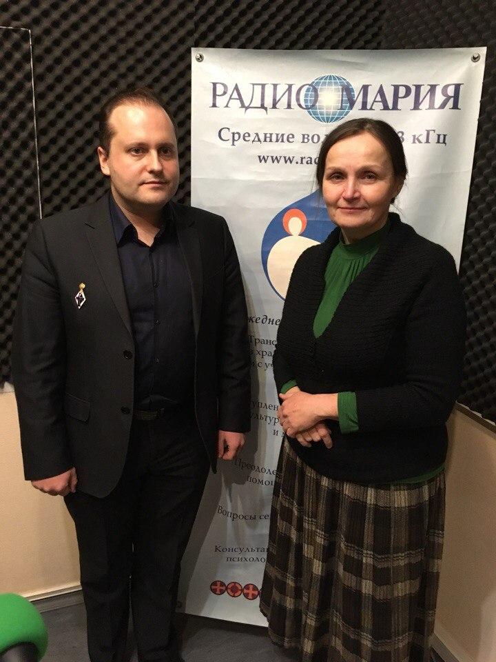 Александр Плетнев и Роксана Бондаревская в эфире Радио Мария, 01.03.2018